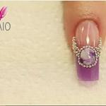 Prachtige nailart met Jewel Acryl